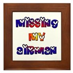 Missing my Airman Framed Tile