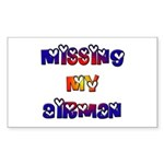 Missing my Airman Rectangle Sticker