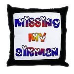 Missing my Airman  Throw Pillow
