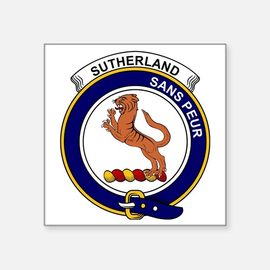 "Sutherland I (Earl of) Clan Square Sticker 3"" x 3"""