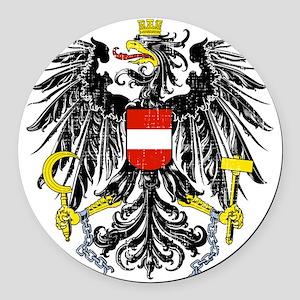 2000px-Austria_Bundesadler Round Car Magnet