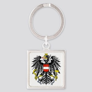 2000px-Austria_Bundesadler Square Keychain