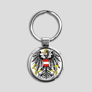 2000px-Austria_Bundesadler Round Keychain