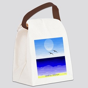 SHORE SKYBIRDS MOON SQ GD Canvas Lunch Bag