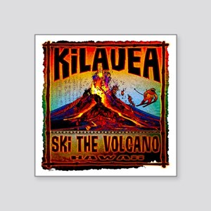 """KILAUEA_VOLCANO Square Sticker 3"""" x 3"""""""
