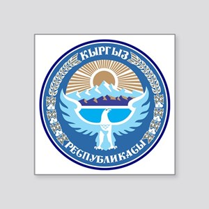 "Emblem of Kyrgyzstan Square Sticker 3"" x 3"""