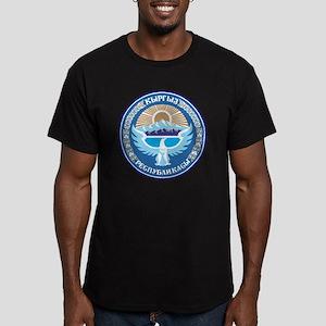 Emblem of Kyrgyzstan Men's Fitted T-Shirt (dark)
