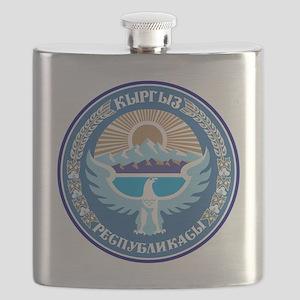 Emblem of Kyrgyzstan Flask