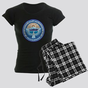 Emblem of Kyrgyzstan Women's Dark Pajamas