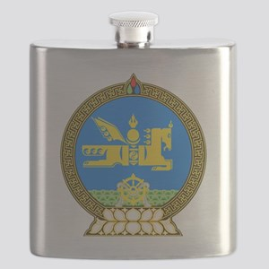 Emblem of Mongolia Flask