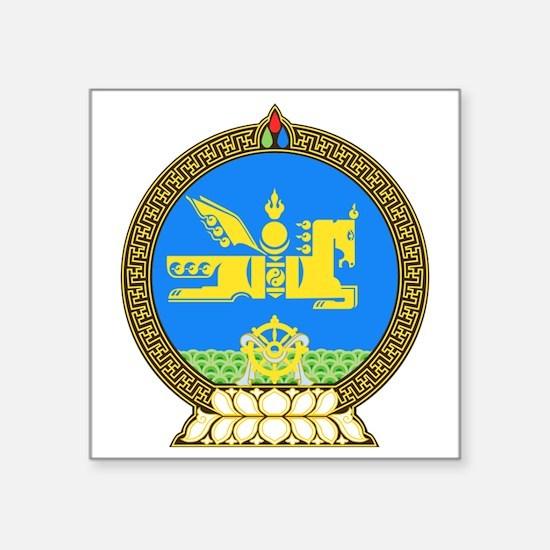 "Emblem of Mongolia Square Sticker 3"" x 3"""