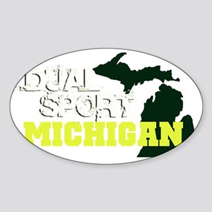 michigan_dual_sport Sticker (Oval)