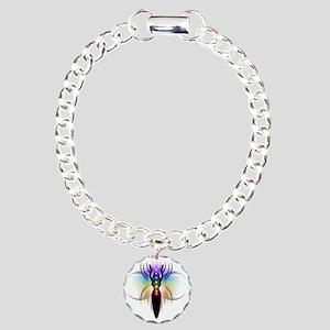 Chakra Goddess - transpa Charm Bracelet, One Charm