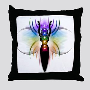 Chakra Goddess - transparent Throw Pillow