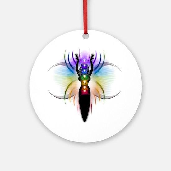 Chakra Goddess - transparent Round Ornament