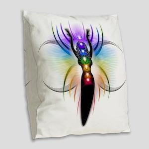 Chakra Goddess - transparent Burlap Throw Pillow