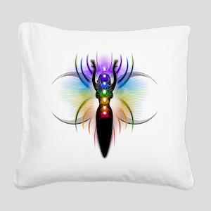 Chakra Goddess - transparent Square Canvas Pillow