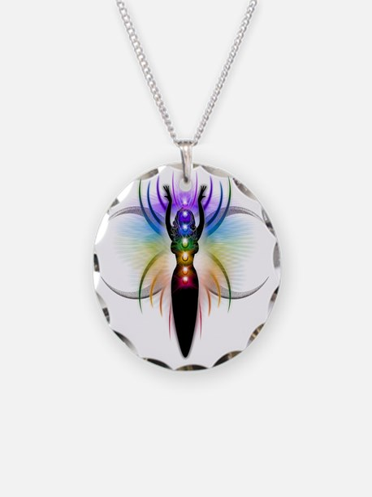 Chakra Goddess - transparent Necklace Circle Charm