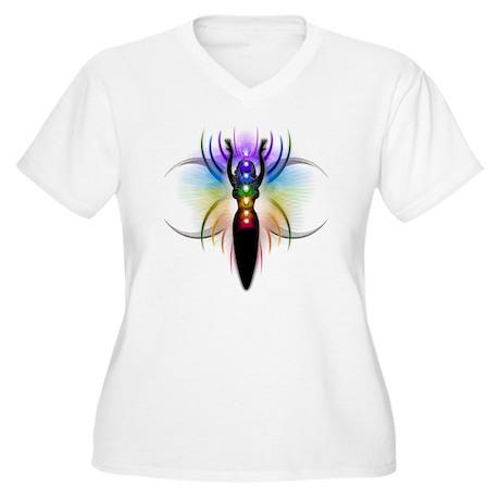 Chakra Goddess - Women's Plus Size V-Neck T-Shirt