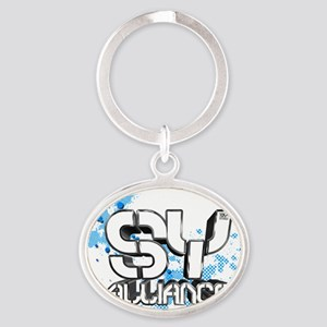 S-Y T-Shirts Oval Keychain