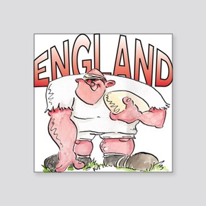 "English Rugby - Forward 1 Square Sticker 3"" x 3"""
