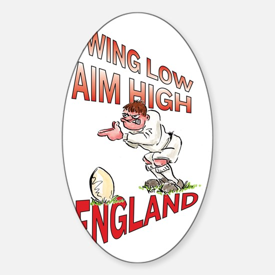 English Rugby - Kicker Sticker (Oval)