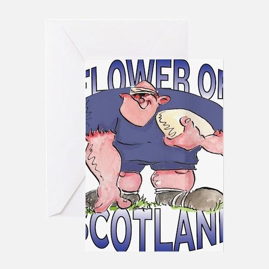 Scottish Rugby - Forward 1 Greeting Card