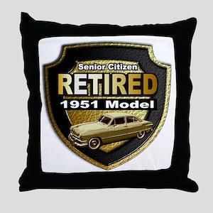 Born 1951 Throw Pillow