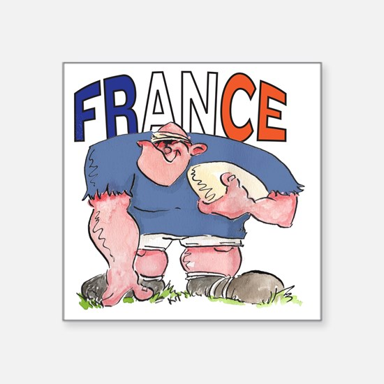 "French Rugby - Forward 1 Square Sticker 3"" x 3"""