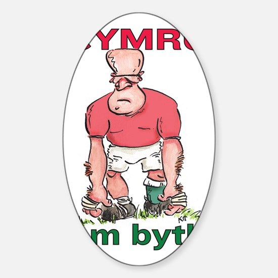 Welsh Rugby - Forward 2 Sticker (Oval)