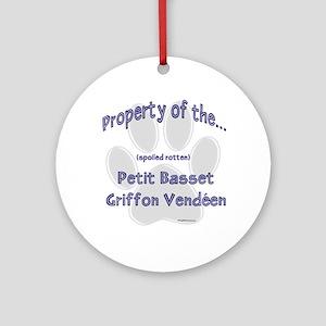 PBGV Property Ornament (Round)