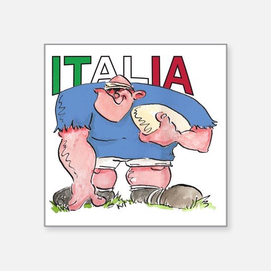 "Italian Rugby - Forward 1 Square Sticker 3"" x 3"""
