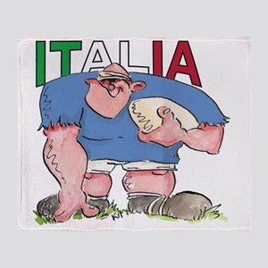 Italian Rugby - Forward 1 Throw Blanket