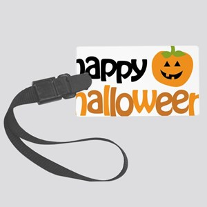 Happy Halloween Large Luggage Tag