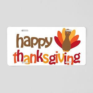 Happy Thanksgiving Aluminum License Plate