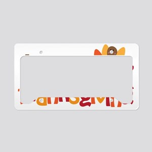 Happy Thanksgiving License Plate Holder