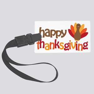Happy Thanksgiving Large Luggage Tag