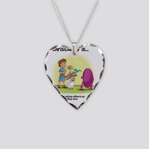 Christianity is... Accepting  Necklace Heart Charm