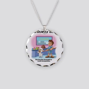 Christianity is... Having th Necklace Circle Charm