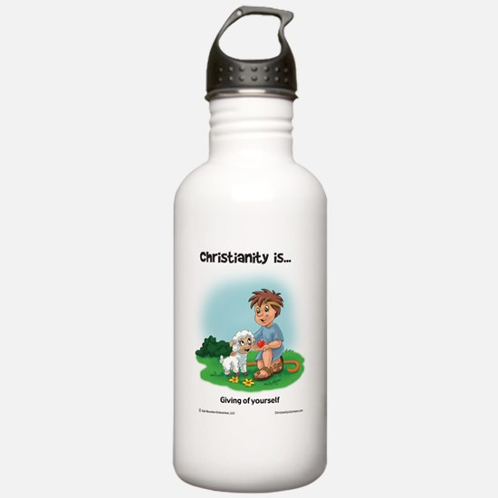 Christianity is... Giv Water Bottle