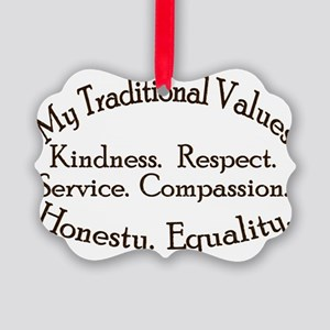 My Traditional Values Old Fashion Picture Ornament