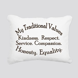 My Traditional Values Ol Rectangular Canvas Pillow