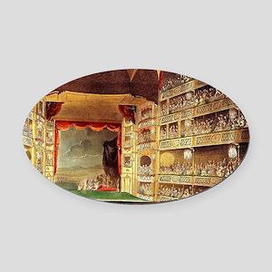Drury Lane theatre Oval Car Magnet