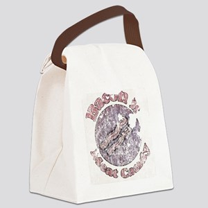 Grungy Bacon is Meat Candy 1c Canvas Lunch Bag