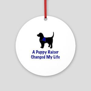 Puppy Raiser Round Ornament