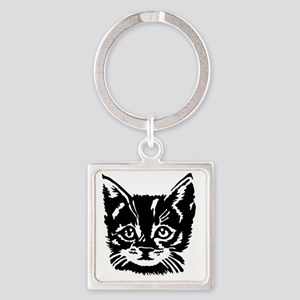 bubbles kitty Square Keychain