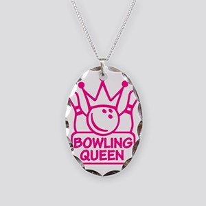 bowling_queen Necklace Oval Charm
