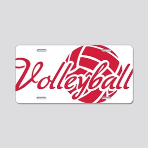 volleyball_word_ball Aluminum License Plate