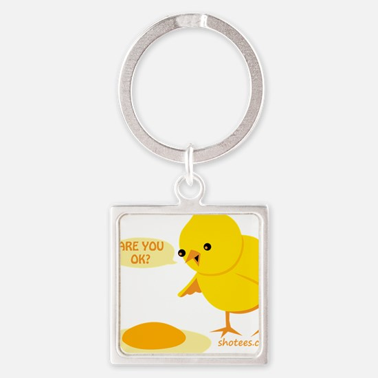 are you ok Square Keychain