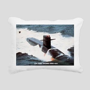 jmonroe large framed pri Rectangular Canvas Pillow